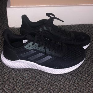 Adidas women black sneakers- size 6.5